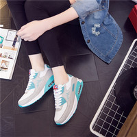 Fashion Casual Multicolor Stitching Thick Bottom Air Cushion Sneakers Women Running Shoes