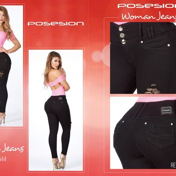 100%  Authentic Colombian  Push Up  Jeans  8544 by Posesion-(R)