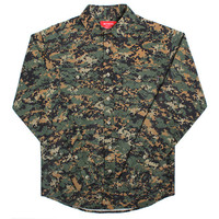 Ripstop Digi Camo Button-Up Shirt Green