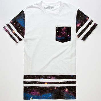 Lira Galactic Edge Mens Tall Pocket Tee White  In Sizes