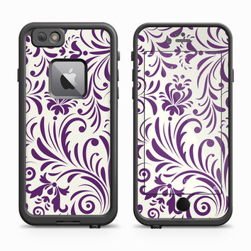 Purple Floral Afternoon Print Skin for the Apple iPhone LifeProof Fre Case