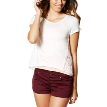 Skylar Windsor Wine Sateen Shorts