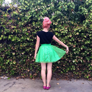 Tinkerbell inspired Disneybounding circle skirt