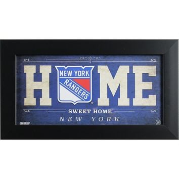 New York Rangers 6x12 Home Sweet Home Sign