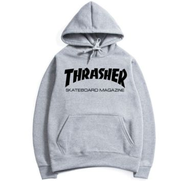 Womens Gray THRASHER Hooded Sweatshirt