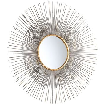 Medium Pixley Starburst Round Framed Wall Mirror by Cyan Design