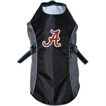 DCCKT9W Alabama Crimson Tide Water Resistant Reflective Pet Jacket