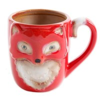 Figural Fox Mug in Rust
