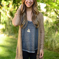 Sheer Luck Cardigan - Mocha