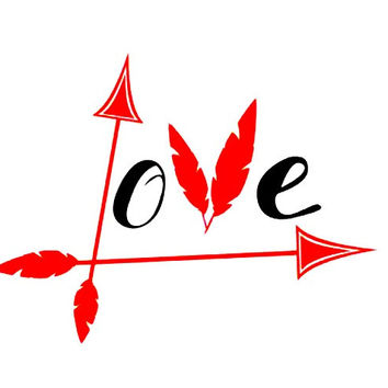Love Arrow Decal, Boho Decal, Yeti Cup Decal, Yeti Tumbler Decal, Yeti Decal for Women, Water Bottle Decal, Decal for Yeti, Gift for Her