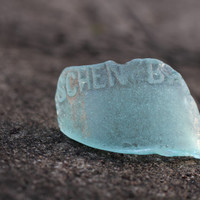 Light Blue Sea Glass Bottle Piece