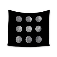 "Jackie Rose ""Lunar OCD"" Black Gray Wall Tapestry"