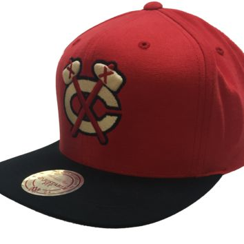 Chicago Blackhawks Sandy Off White Snapback Cap By Mitchell & Ness