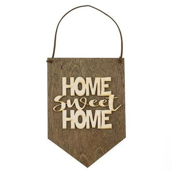 Home Sweet Home - Wood Wall Hanging - Housewarming