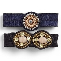 Berry 'Antique Jewel' Ponytail Holders (Set of 2)