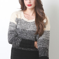 Tri Layer Knit Sweater