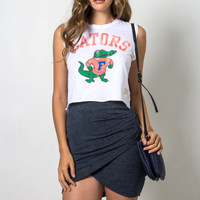 RetroBrand Gators Crop Muscle Tee