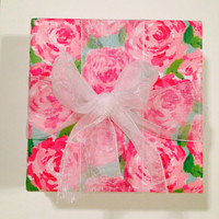 "Lilly Pulitzer ""First Impressions"" Print Coaster Set (set of 4)"