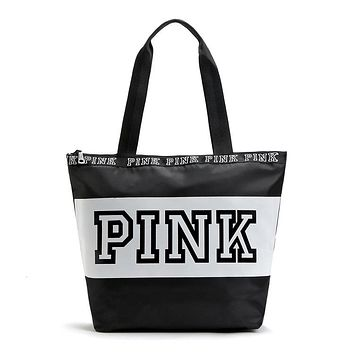 Women Waterproof Nylon Shoulder Bags Pink Letter Handbags Ladies Travel  Duffle Beach Bag Designer Totes Shopping c053a3a561