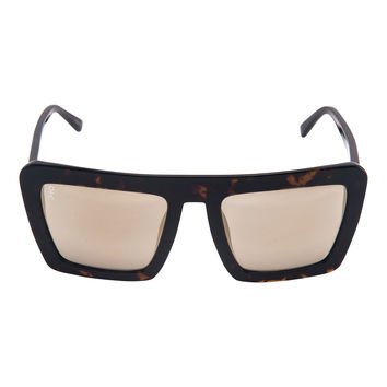 Benson - Night - Tortoise and Gold Lens Oversized Square Wayfarer