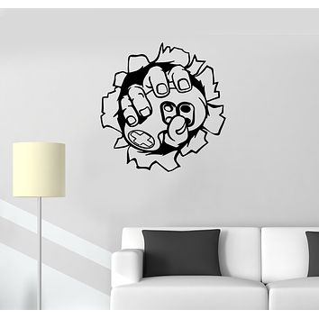 Wall Decal Player Computer Game Console Gamepad Hand Vinyl Sticker (ed1471)
