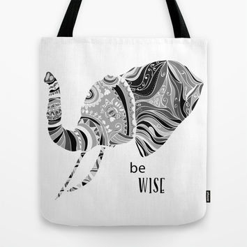 BE WISE Tote Bag by Nika
