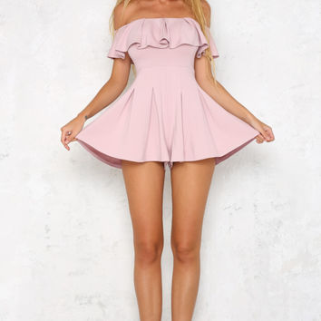 Peso Playsuit Mauve