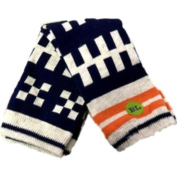 Baby Legs-Newborn Pebbles legwarmers-Checkered, Multi