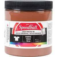 Speedball Art Products Fabric Screen Printing Ink, 8-Ounce, Brown