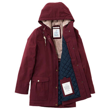 Seasalt RAIN® Collection Tiller Raincoat | Merlot at John Lewis