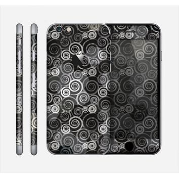 The Back & White Abstract Swirl Pattern Skin for the Apple iPhone 6
