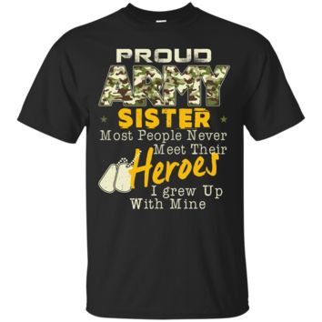 Unisex Proud Army Sister Relaxed T-Shirt