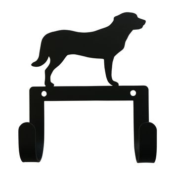 Wrought Iron Shepard Dog Leash & Collar Wall Hook