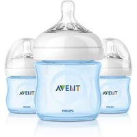 Philips AVENT SCF690/39 BPA Free Natural 4 Ounce Polypropylene Bottles, Blue, 3-Pack - Walmart.com