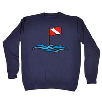 Open Water Dive Site Flag Design Scuba Diving Sweatshirt
