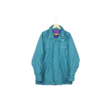90s REI gore-tex teal parka / vintage 1990s rain jacket / outdoors / outerwear / coat /  mens large