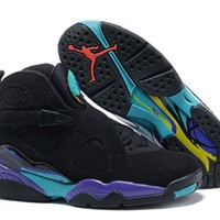 Air Jordans 8 Retro Aqua Black/bright Concord-aqua Tone 305381-025 - Beauty Ticks