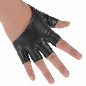 Women's Leather Semi-fingered Show Gloves Mittens Fashion Ladys Half Finger Fingerless Hot 2017 New Evening Party Gloves Solid