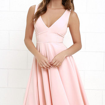 Of My Dreams Peach Midi Dress