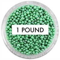 Pearly Green Non-Pareils 1 LB