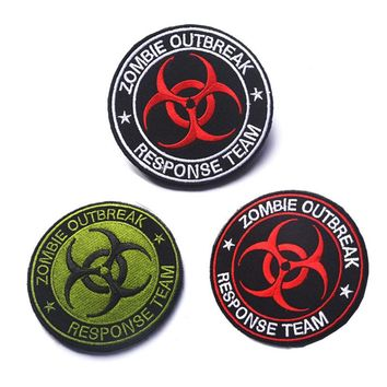 Zombie Outbreak Response Team embroidery the tactical military patches badges for clothes clothing HOOK/LOOP 8CM