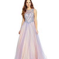 Glamour by Terani Couture Jeweled Tank Ball Gown   Dillards.com