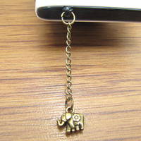 cute elephant dust proof plug,cute dinosaur charms for iphone 5 4s 4, 3.5mm dust proof plug for Samsung Blackberry HTC