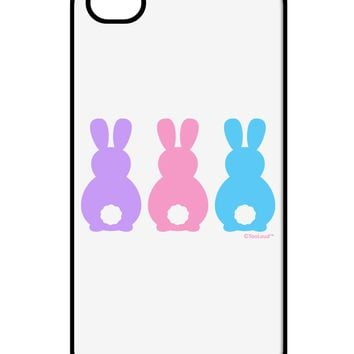 Three Easter Bunnies - Pastels iPhone 4 / 4S Case  by TooLoud