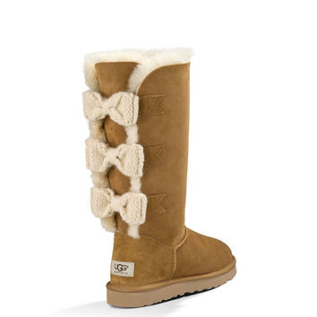 UGG Official | Women's Tall Bailey Knit Bow Footwear | UGGAustralia.com