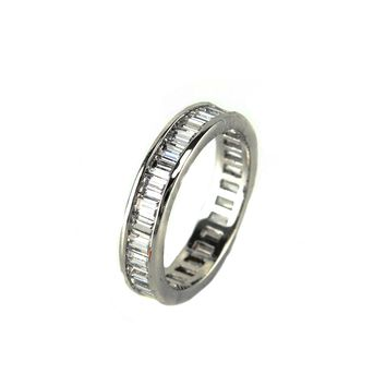 CZ Emerald Cut Eternity Band