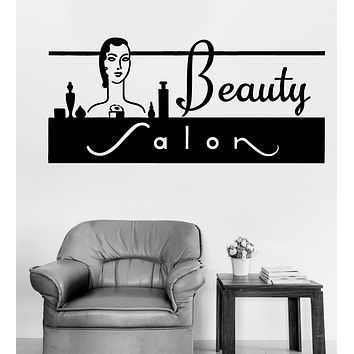 Large Wall Vinyl Decal Beauty Hair Salon Interior Decor (n1071)
