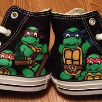 TMNT Hand Painted Converse Shoes