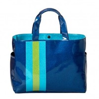 Stripe Carry All Tote - Blue