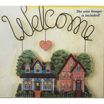 cross stitch 2 Welcome  14 count embroidery sets DMC
